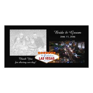 Las Vegas épousant des cartes photos de Merci Carte Avec Photo