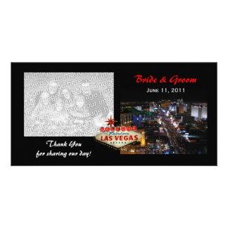 Las Vegas épousant des cartes photos de Merci Photocartes Personnalisées