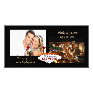 Las Vegas épousant des cartes photos de Merci Photocarte