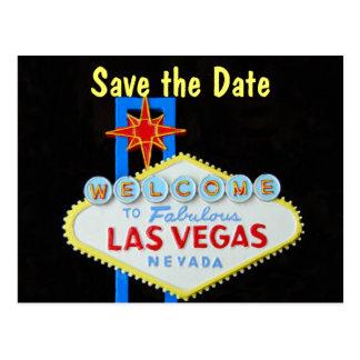 Las Vegas épousant des économies la date Cartes Postales