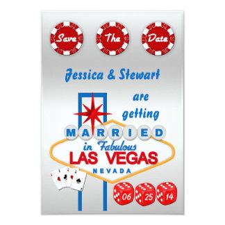 Las Vegas épousant des économies la date Carton D'invitation 8,89 Cm X 12,70 Cm