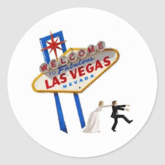 Las Vegas épousant l'autocollant de jeune mariée