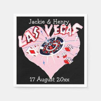 Las Vegas épousant le noir et le rose Serviette Jetable