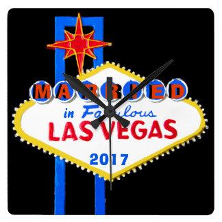 Las Vegas épousant le souvenir Horloge Carrée