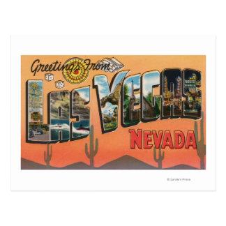 Las Vegas, Nevada - grandes scènes de lettre Carte Postale
