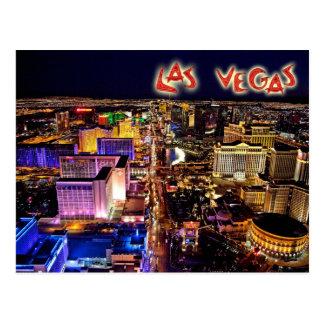 Las Vegas, Nevada la nuit - vue aérienne Carte Postale