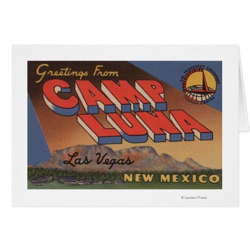 Las Vegas, Nouveau Mexique - camp Luna Cartes De Vœux
