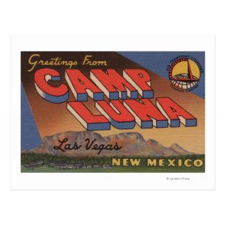 Las Vegas, Nouveau Mexique - camp Luna Carte Postale