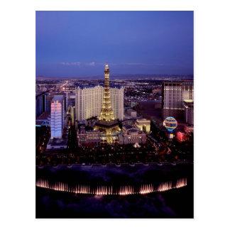 Las Vegas par la nuit 3 Carte Postale