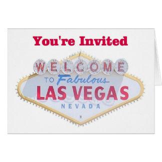 Las Vegas vous êtes les cartes invitées
