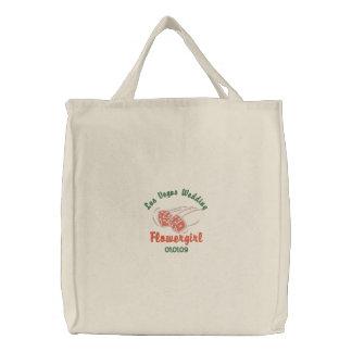 Las Vegas Wedding - Flowergirl Tote Embroidered Bags