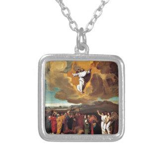 L'ascension - peinture par John Singleton Copley Pendentif Carré