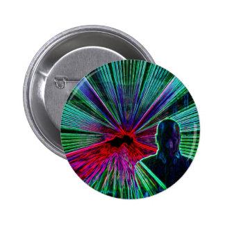 Lasers sur le bouton/insigne du DJ Badge