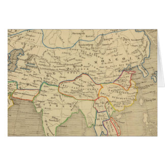 L'Asie, AP 1220 l'an JC Carte De Vœux