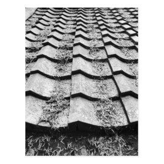 L'Asie, Japon, Miyajima. Détail de toit d'argile Carte Postale