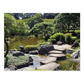 L'Asie, Japon, Tokyo. Le jardin japonais au Carte Postale