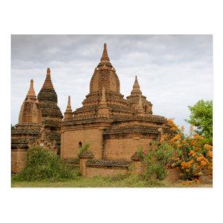 L'Asie, le Myanmar Birmanie), païen de Bagan). Carte Postale