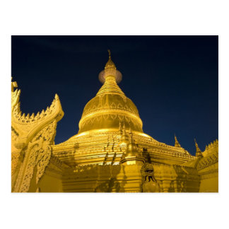 L'Asie, Maynmar, Yangon, temple bouddhiste à Carte Postale