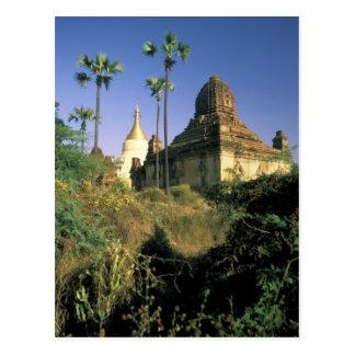 L'Asie, Myanmar, Bagan. Temple de Kubyauk-Gyi Carte Postale