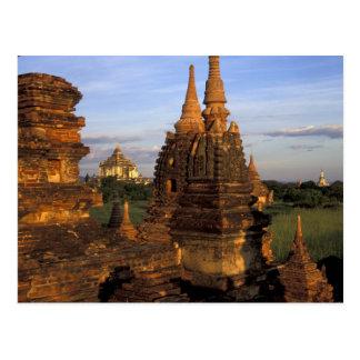 L'Asie, Myanmar, Bagan. Temples antiques et Carte Postale