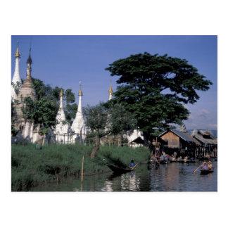 L'Asie, Myanmar, lac Inle. Un marché de flottement Carte Postale