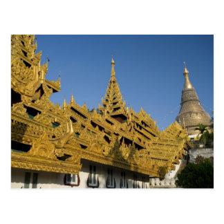 L'Asie, Myanmar, Yangon. Stupa d'or de Shwedagon 2 Carte Postale
