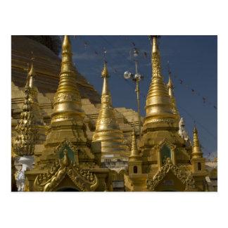 L'Asie, Myanmar, Yangon. Stupa d'or de Shwedagon Carte Postale