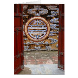 L'Asie, Vietnam. Mur fleuri à la citadelle Carte De Vœux