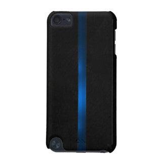 L'aspect en bois noir amincissent Blue Line Coque iPod Touch 5G