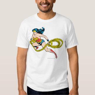 Lasso de oscillation de femme de merveille laissé t-shirts