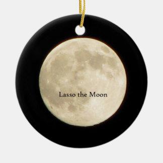Lasso l'ornement de lune ornement rond en céramique