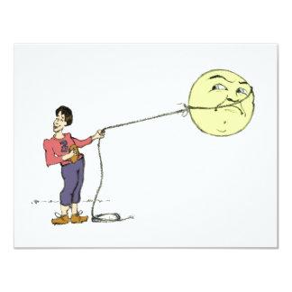 """""""Lassos de George carte de la lune"""" Carton D'invitation 10,79 Cm X 13,97 Cm"""