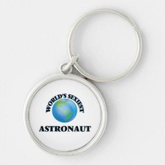 L'astronaute le plus sexy du monde porte-clé rond argenté