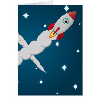 L'astronaute seul carte de vœux