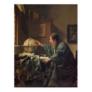 L'astronome par Johannes Vermeer Carte Postale