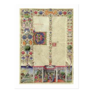 Lat 422 VolI fol.280v le début du livre de Cartes Postales