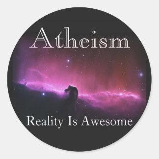 L'athéisme, réalité est impressionnant sticker rond