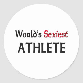 L'athlète le plus sexy du monde adhésifs ronds