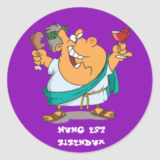 Latin : Bibendum d'est de Nunc Sticker Rond