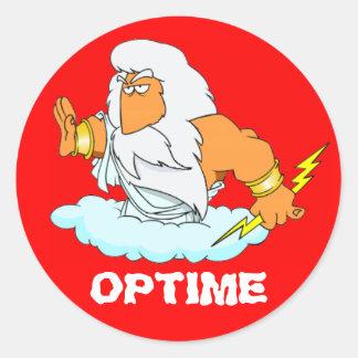 Latin : Optime ! Sticker Rond