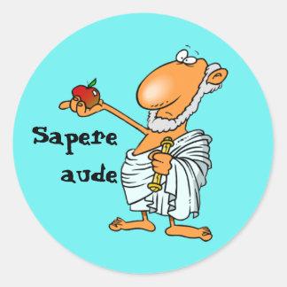 Latin : Sapere l'Aude Sticker Rond