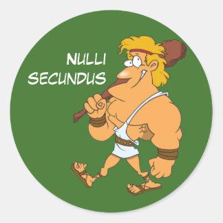 Latin : Secundus de Nulli Sticker Rond
