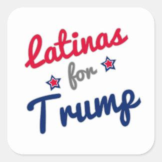 Latinas pour l'atout sticker carré