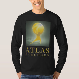 L'atlas officiel a gesticulé le long noir T T-shirt