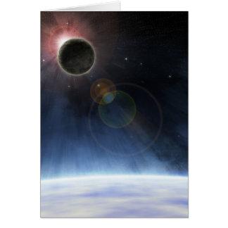 L'atmosphère externe de la terre de planète carte de vœux