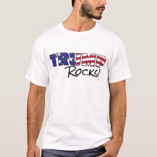 L'atout bascule le texte de drapeau des Etats-Unis T-shirt