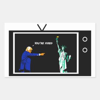 L'atout met le feu à Madame Liberty Sticker Sticker Rectangulaire