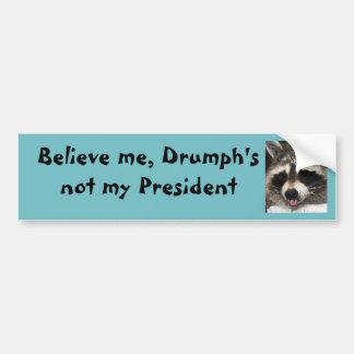 L'atout n'est pas mon président autocollant pour voiture