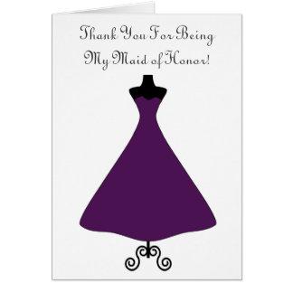 L'aubergine a coloré la domestique de l'honneur/de cartes de vœux