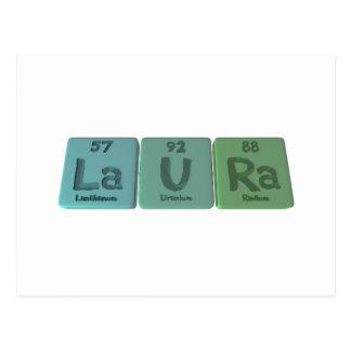 Laura en tant que radium d'uranium de lanthane carte postale